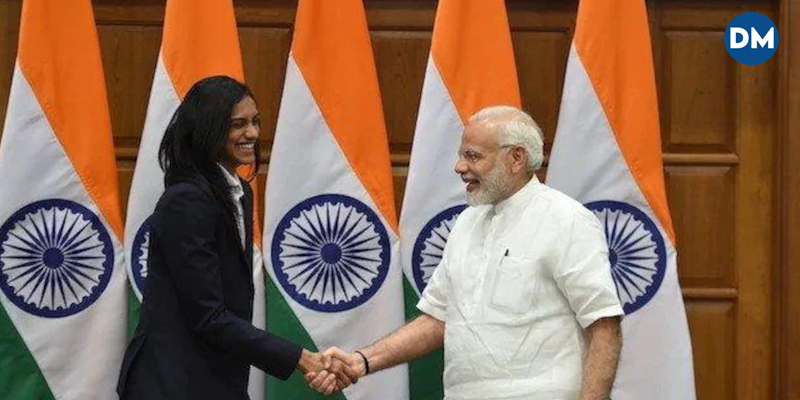 PM Narendra Modi offers ice cream to medallist PV Sindhu post her win at Tokyo Olympics 2020