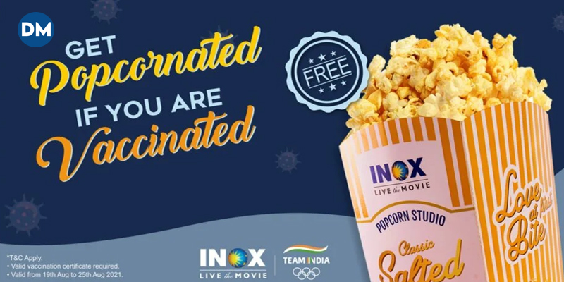 INOX to Offer Free Popcorn to Vaccinated Movie Lovers