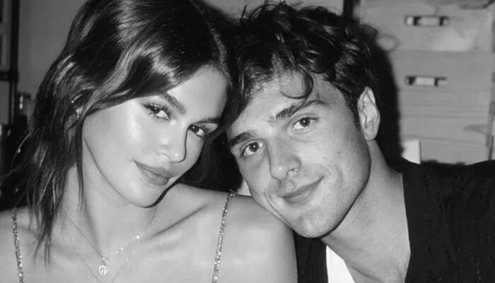 Kaia Gerber cuddles up with boyfriend Jacob Elordi in sweet photos from her 20th birthday bash